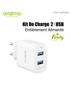 شاحن ORAIMO المزدوج USB