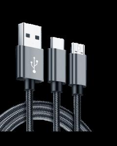 INFINIX Cable 2 en 1 Micro + Type C
